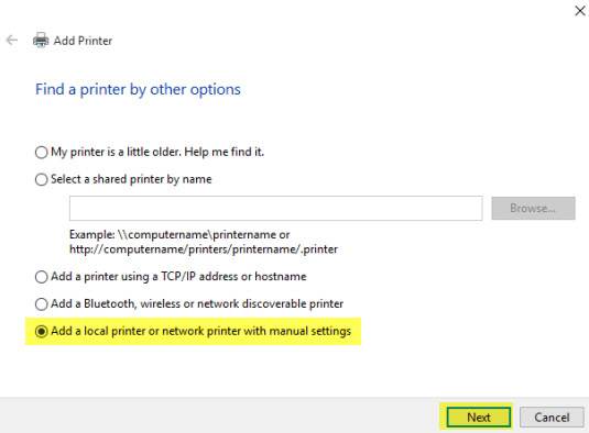 Receipt Printer installation Windows 10
