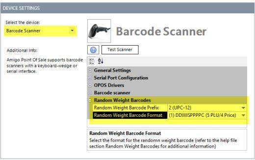 Random Weight Barcodes
